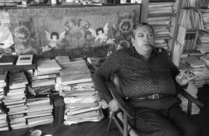 Historian Jacques Le Goff in His Home Office
